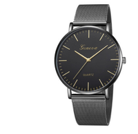 Fashion and trend net steel band Geneva men and women watches.