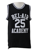 Fresh Bel-Air Prince 25 Bank Black Basketball Jersey