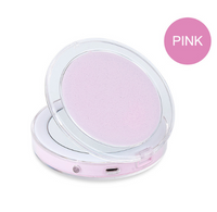 LED Lighted Mini Makeup Mirror 3X Magnifying Compact Travel Portable Sensing Lighting Makeup Mirror SK88