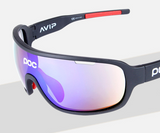 Sunglasses with riding on the road