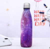 Stainless Steel Thermos Vacuum Flask Bottle 500ml Coffee Milk Cup Lovers Gradient Color Outdoor Travel Sport Hot Water Bottles