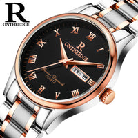 A waterproof, business, fine, steel belt, quartz watch for men, watches for women, non mechanical men's watches for students