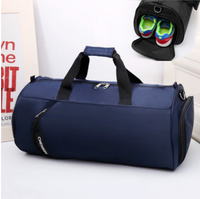 Fitness bag men's sports bag basketball training bag football bag portable travel bag cylinder bag shoulder bag waterproof
