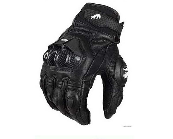 Motorcycle Locomotive Equipment Knight Carbon Fiber Leather Windproof Men and women Four Seasons Anti-fall Off-road Racing Riding Gloves