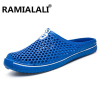 Summer Sandals Men Mesh Shoes Mules Clogs Breathable Beach Slippers Male Water Hollow Aqua Wading Chaussure Homme