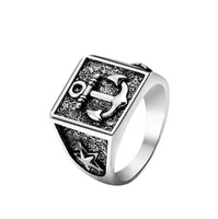 New Arrival King Queen Crown Signet Ring for Men Women Vintage Silver Color Carving Stars Punk Party Jewelry Gifts