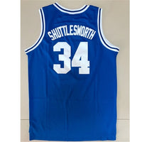Single film version of basketball clothing No. 34 Jersey Ray Allen Allen ray embroidered Retro Blue White male
