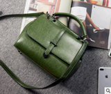 2020 new leather handbags tide casual ladies portable slung shoulder two-color leather bag