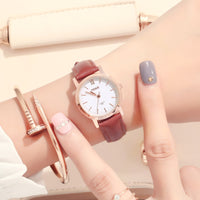 Korean version of retro fashion couple watches, male and female students strap watch, digital simple non mechanical quartz watch