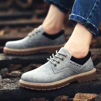 2020 autumn and winter shoes for men work shoes leisure shoes all-match trend of Korean male youth head shoe leather shoes