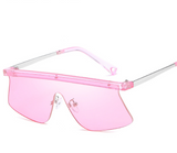 Clear Eyewear Fashion Sunglasses Women Cat Eye Sun Glasses For Ladies Clear Rimless Mirror Pink Sun Glasses