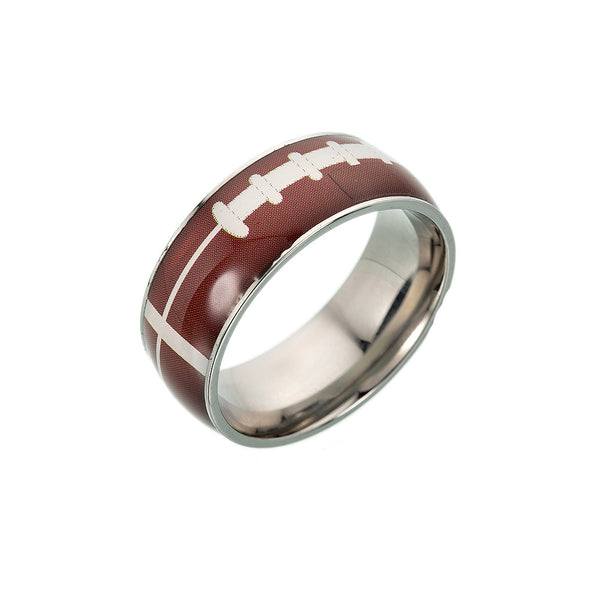 Football basketball football titanium steel ring