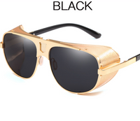 New punk style trend sunglasses Fashion thick side windshield sunglasses Personality retro men's sunglasses