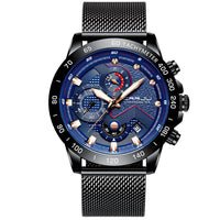 Multi-function six-needle stainless steel watch