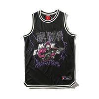 Loose basketball uniform mesh sweat vest