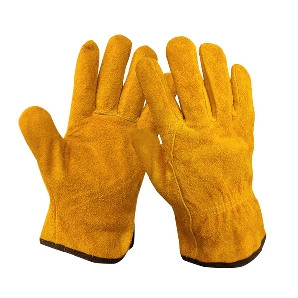 Welding gloves, leather, high temperature, short