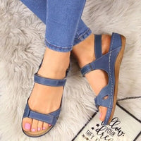 Women Sandals Soft Three Color Stitching Ladies Sandals Comfortable Flat Sandals Open Toe  Beach Shoes