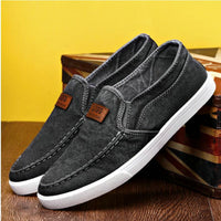 Summer Outdoor Solid Footwear Vulcanize Shoes Comfortable Men's Flats Canvas Shoes Men Denim Cloth Casual Shoes