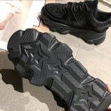 Womens Sneakers Trainers Platform Wedges Chunky Sneakers Black Sneakers Women Casual Shoes Woman Baskets chaussures femme