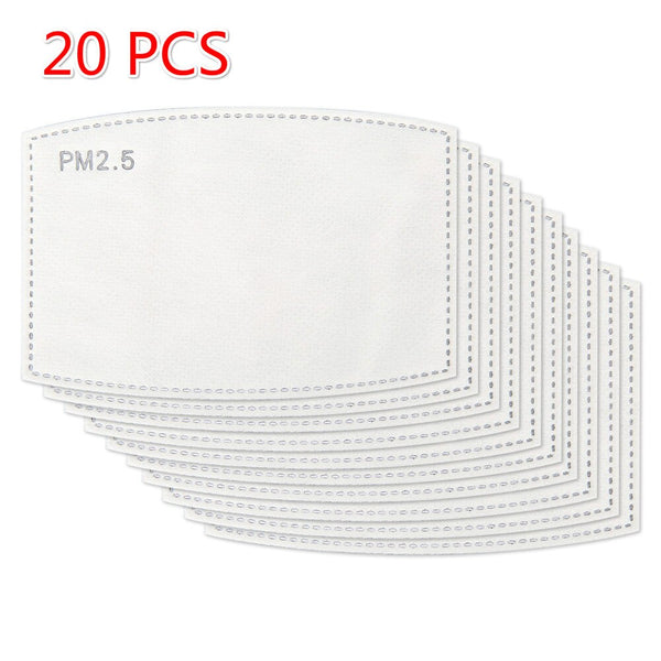 10-100 PCS PM2.5 Mask Filter Paper Anti Haze Mouth Face Mask Anti pm 2.5 Dust Mask Activated Carbon Filter