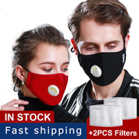 Anti PM2.5 Breathing Mask Washable Cotton Haze Valve Dust Proof Mouth Face Mask Activated Carbon Filter Respirator Mouth-muffle