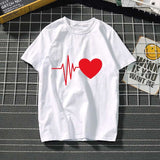 Women's t-shirt Harajuku love t shirt women feminina ladies Than heart ulzzang graphic t shirts women 2019 summer femme clothes