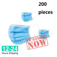 Face Mouth Anti dust Mask Disposable Protect 3 Layers Filter Dustproof Earloop Non Woven Mouth Mask 12-24 hours Shipping