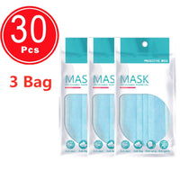 Non-woven 3 layers Anti-dust Disposable Safe Breathable Face Mouth Mask Adult Ear loop Filter Masks
