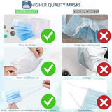 100Pcs Disposable Face Mask 3 Layer Nonwove Filter Disposable mouth mask filter Earloop Breathable Melt-blown masks