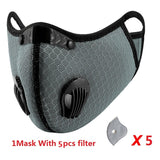 Shipping To The US Activated Reusable Carbon Filter Windproof Dust-Proof  Outdoor Sports Bibs Running Cycling Dust Filter