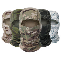 Tactical Camouflage Balaclava Full Face Mask CS Wargame Army Hunting Cycling Sports Helmet Liner Cap Military Multicam CP Scarf