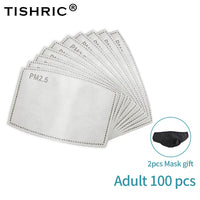 TISHRIC PM2.5 Mask Filter Disposable Mask 5 Layers Particulate Respirator Mask Carbon Aerial Droplets Filter for Dust Mask