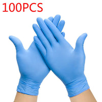 100PCS/SET Household Cleaning Washing Disposable Mechanic Gloves Nitrile Laboratory Nail Art Anti-Static Gloves Food Grade Glove