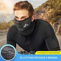 Spring Summer Cycling Half Face Mask Skin Cool Ice Silk Breathable UV Protection Sports Headwear Bike Headband Mask