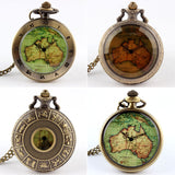Womens Mens Quartz Pocket Watch 1pcs Vintage Watch Necklace Gift Retro Australia Map Watch Pendant Clock On Chain Dropshipping