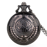 New Portrait of Stalin of Russia's Leader Quartz Pocket Watches Necklace Chain Pendant Silver Pocket Watches Gifts for Men Women