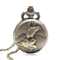 Antique Eagle Design Fob Quartz Pocket Watch With Necklace Chain Hot Sale Pendant Gift for Male Female Gift for Pocket Watch
