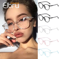 Elbru Optical Eye Glasses Frames for Women Men Ultralight Eyeglasses Frame Female Male Transparent Black Pink Blue oculos