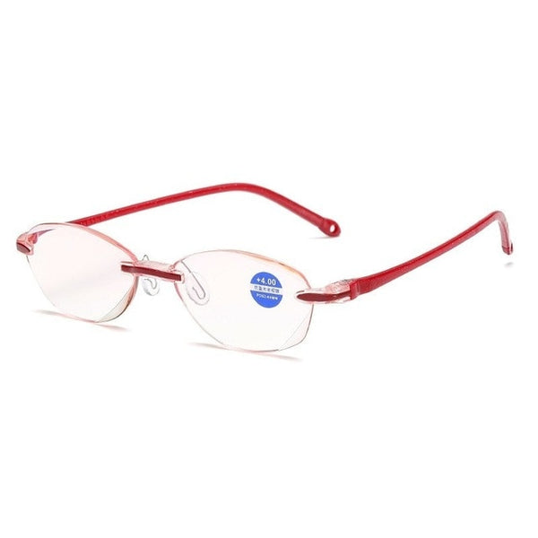 2020 Frameless Square Reading Glasses for Men Women's Anti Blue Light Computer glasses Far Sight Presbyopia Reader Glasses Women