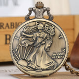 Statue of Liberty Commemorative Coin 1 oz Fine Silver One Dollar Coins Collectibles United States of America Quartz Pocket Watch
