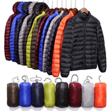 Men's Lightweight Down Jacket 5XL 2020 Autumn And Winter New Hooded Stand Collar Men's Short Youth Large Size Casual Winter Coat