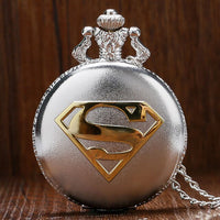 Superman Pocket Watch for Men Blue Dial Clock Cool Pendant Watches Male Necklace Accessory Gift reloj de bolsillo hombre