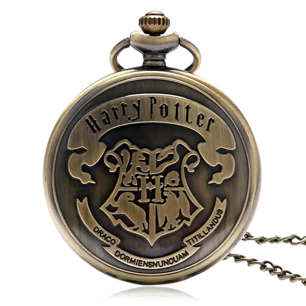 Harry Quartz Pocket Watch Men Classical Moive Theme Extensions 3D Animal Logo Pendant  Watches Gifts for Children