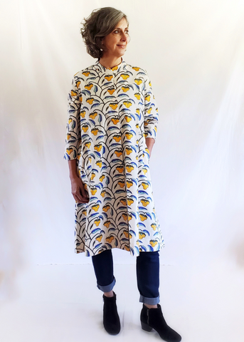 cotton duster coat dress
