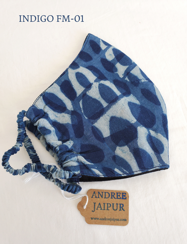 Gypsy Top in Indigo and White, Matchstick stripe print