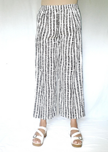 Wide-Leg Pant in Black and White, Wide Stripe