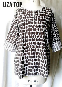 Liza Top in Black and White, Butti print