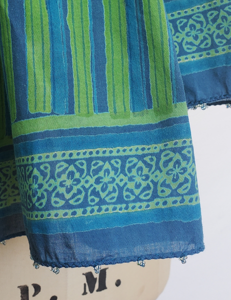 HAND BLOCK PRINTED STOLE SCARF COTTON CH-113