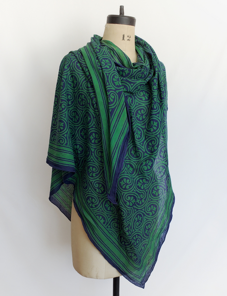HAND BLOCK PRINTED SCARF COTTON CH-74