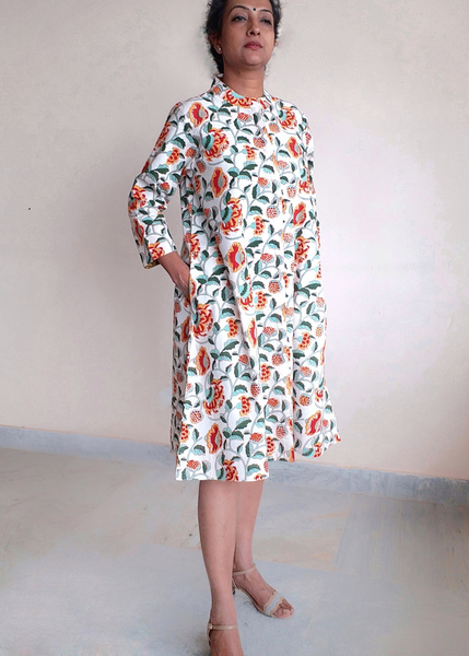 ISABELLA DRESS in Yanam Vine